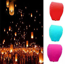 9 Colors Chinese Sky Lanterns Floating Flying Paper Lantern Party/Wedding New