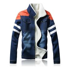 Men Jeans Jacket Autumn Spring Coat Cowboy Style Leisure Coat Puls Size