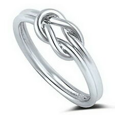 Promise Love Double Knot Celtic Heart Infinity Solid Sterling Silver Ring