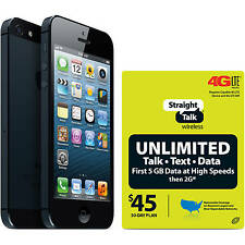 Apple iPhone 5 32GB - Straight Talk (Verizon or AT&T Towers) SIM Included