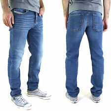 New DIESEL BUSTER Stonewash Men's Jeans Slim Tapered Stretch