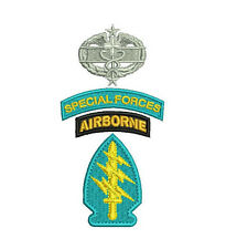 Special Forces Airborne Combat Medic Embroidered Polo Shirt Embroidery Gift