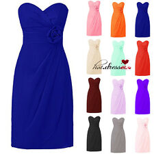 Short Formal Prom Party Ball Gowns Evening Wedding Bridesmaid Dresses STOCK 6-20