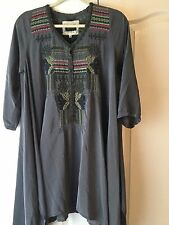 Biya (Division of Johnny Was) Tunic type Dress Sz M 100% Silk