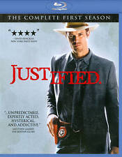 """""""JUSTIFIED"""" The Complete FIRST Season BLU-RAY 3 DISC Set"""