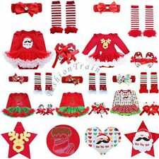 My First Christmas Outfit Baby Girl Kid Romper Tutu Dress Costume Fancy Dress Up