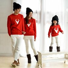 Cotton Embroidery Family Matching Hoodie Mom Dad Baby Christmas Clothing 1PC