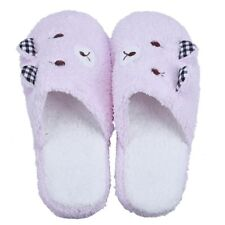 Women Autumn Winter Warm Lovely Velvet Soft Plush Home Non-silp Bowknot Slippers