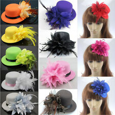Women Lady Flower Floral Hat Hairpin Hairclip Wedding Cocktail Party Fascinator