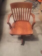 bankers wooden rolling office chair randolph desk company antique vintage bela stackable office chair