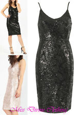 WOMENS STRAPPY FLORAL PRINT SEQUIN EMBELLISHED DETAIL CAMI PARTY DRESS