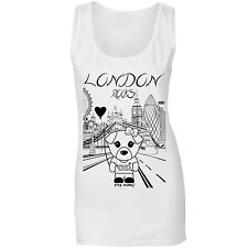 Mi Dog In London Womens Cute Dog With London City Fitted T Vest Top