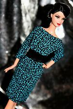 "Handmade OOAK 11.5""  Fashion Doll Dress - Belted Blousy Teal Dress  LAST CALL SE"