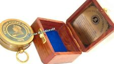 Vintage Antique Brass Victorian Compass Nautical Brass minisize Compass With Box