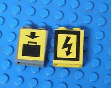 LEGO Red Brick 1 x 2 x 2 with Arrow Pattern Suitcase Pattern x2PC