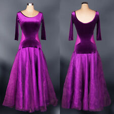Women Latin Tango Foxtrot Viennese Waltz Rhythm Ballroom Competition Dance Dress