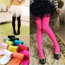 Baby Girl Kid Solid Color Stockings Tights Pantyhose Ballet Dance Pants Age 3-12