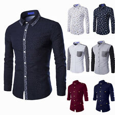 Newest Luxury Mens Long Sleeves Casual Formal Slim Fit Dress Shirts Collection