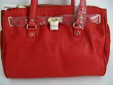 NWT DANIER Genuine leather red tote bag retail price $249