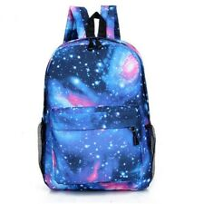 Unisex Canvas School Bag Book Campus Travel Backpack Star Sky Printed