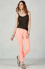 NEW! True Religion Cora Crop Straight Leg Mid Rise Jean Coral Reef $158.00