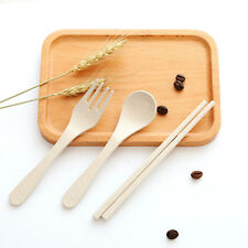 Brand Portable Spoon Fork Chopsticks Tableware Set for Travel Cutlery Camping