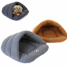 Pet Bed House Mat Sleeping Bag Warm Soft Cozy Cave Half Covered Puppy Dog Cat