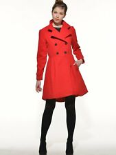 NEW Fashion women's long sleeve Double-Breasted coat Wool Blends slim overcoat