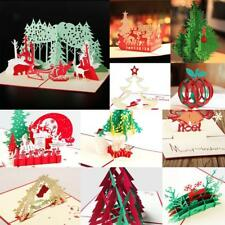 3D Pop Up Handmade Christmas Happy New Year Birthday Greeting Cards 11 Types