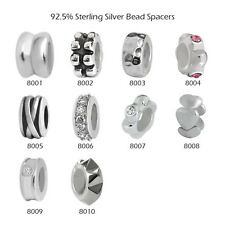 925 Sterling Silver Bead Spacers for European Charms Bracelet Necklace