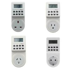 Digital Electronic LCD Programmable Plug-in Timer 12/24 Hour Switch Socket Plate