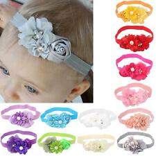 Kid Girl Baby Headband Toddler Lace Flower Pearl Hair Band Headwear Baptism Accs