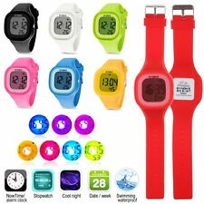 Waterproof Boy Girl Watch LED Digital Sports Watches Silicone Square Wristwatch