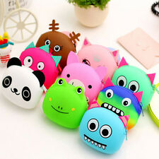 Women Girls Wallet Cute Lovely Cartoon Animal Silicone Jelly Coin Purse Kid Gift
