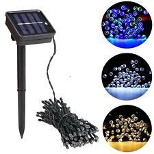 Solar Powered New 100 LED Outdoor String Light Garden Christmas Party Lamp