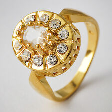 wholesale jewelry lots Women 18K Gold Plated Rhinestone crystal Ring Size 7-9