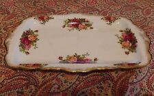 "Royal Albert Old Country Roses Sandwich Tray Cake Platter China 11 3/4"" England"