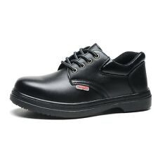 Work Boots Non Slip Shoes Full Grain Leather Oil Proof Steel Toe Cap Boots