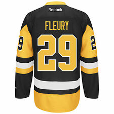 Marc-Andre Fleury Pittsburgh Penguins Reebok Premier Replica Home NHL Hockey