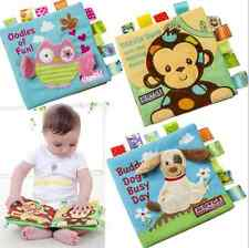 Baby Kids Animals Soft Cloth Book Early  Learn Education Baby Development Toy