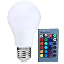 E27 Dimmable RGB LED light Color Changing Bulb with Remote Control Hot 85-265V