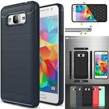 Shockproof Brushed Hybrid Carbon Case Cover For Samsung Galaxy Grand Prime G530