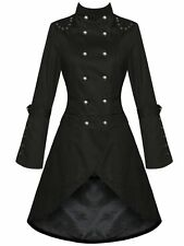 Women's Gothic Lolita Fashion Double-Breasted Slim Trench Winter Coat Outwear