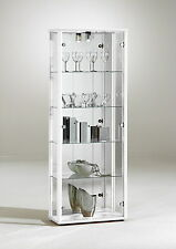 LOCKABLE RETAIL GLASS DISPLAY CABINET UNIT 2 DOORS VARIOUS COLURS