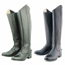 LADIES HORSE RIDING SHOWING JUMPING DRESSAGE REGULAR WIDE LEATHER BOOTS SIZE 4-8