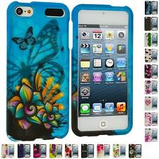 For iPod Touch 5th Gen 5G Flower Design Hard Rubberized Snap-On Skin Case Cover