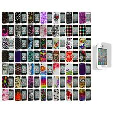 Design Color Hard Snap-On Skin Case Cover+Screen Protector for iPhone 4 4G 4S
