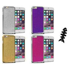 For Apple iPhone 6 (4.7) Metal Bling Glitter Shiny Case Cover Cable Wrap