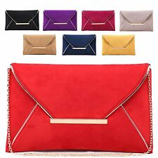 Ladies Stylish Fx Leather Envelope Style Clutch Evening Bag Bridal Handbag M622