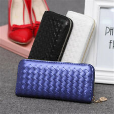 Fashion Lady Women Leather Clutch Wallet Long Card Holder Bag Zip Purse US Stock